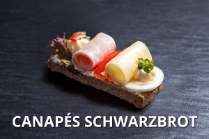 Canapes Schwarzbrot